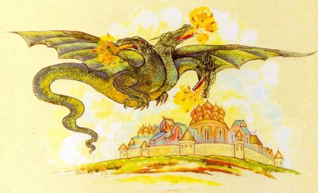 рисунки Змея Горыныча