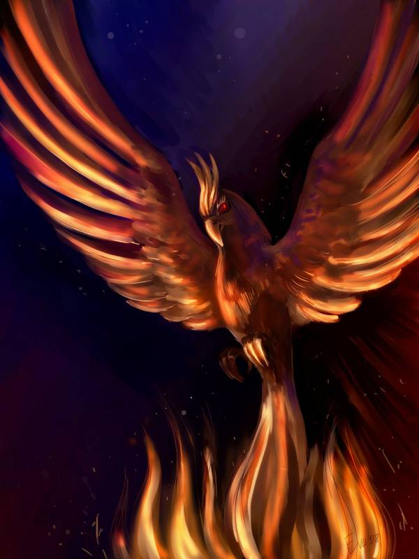 картинка птица-феникс